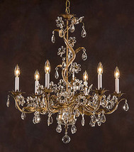 STUNNING FRENCH STYLE FLOWERS DESIGN CHANDELIER,29.5'' X 35.5''TALL. - $593.01