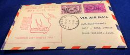 1938 National Airmail Week Cover. Nice Cancellation Marks. Has Cachet Bo... - $2.25