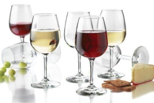 Libbey Wine Glass Party Set of 12 Glasses 12.75 Ounce Clear White Red