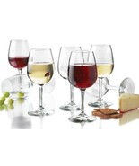 Libbey Wine Glass Party Set of 12 Glasses 12.75 Ounce Clear White Red - $52.91