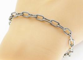 925 Sterling Silver - Open Twist Link Petite Chain Bracelet - B5877 - $31.23