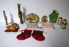 Christmas/Lot of 12 Vintage Assorted Most Homemade Ornaments W/Ronald McDonald - $8.79