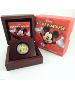 2014 MICKEY MOUSE 1/4oz GOLD Proof Coin Limited... - £539.64 GBP