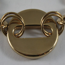 .925 RHODIUM SILVER YELLOW GOLD PLATED BRACELET WITH CIRCLES image 2