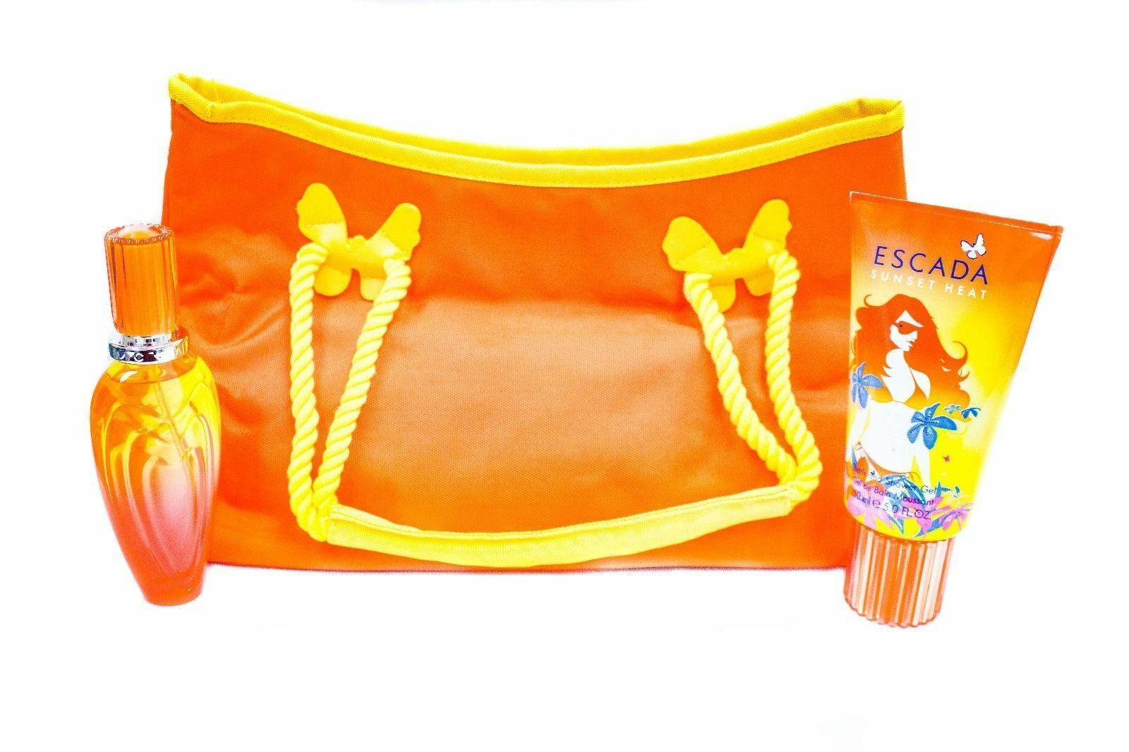 Aaaaaaaaaescada sunset heat 1.6 oz beach bag gift set