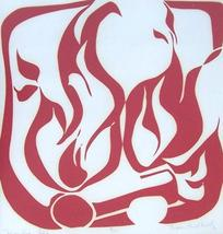 "Hand S/N Sharon Havelak, OSF 9/15 ""Brother Fire"" Screen Print Lourdes Co... - $484.49"