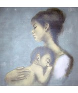 "Hand Signed & Numbered Young Mother & Child ""Aubrey"" Sandu Liberman Print  - $336.93"