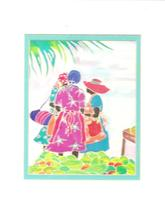 "Hand Signed  Rita Van Gorder - ""Marketplace Ladies"" Caribbean Art Giclee... - $191.03"
