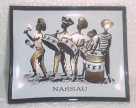"Hand painted ""Nassau"" Bahamas Steel pan drum players tourist souvenir as... - $31.29"