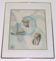 Hand signed S.S.K Murr lithographic art print bahamas caribbean sea naut... - $386.03