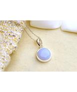 0207,Blue Chalcedony Necklace,Geode Necklace,Quartz Necklace,Layered Nec... - €31,35 EUR