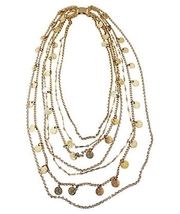 1970s Napier Multi-Strand Coin Runway Couture Necklace - $150.00