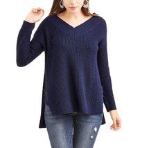 Faded Glory Women's V Neck Hi Low Tunic Sweater Size XXL (20) New Sapphire  - $21.77