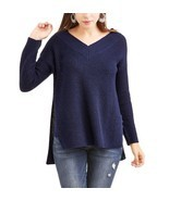 Faded Glory Women's V Neck Hi Low Tunic Sweater Size XXL (20) New Sapphire  - £16.95 GBP