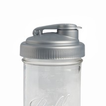 reCAP Mason Jars POUR, Wide Mouth, Canning Jar Lid, Silver New - $9.99