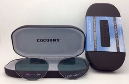 COCOONS Grey Polarized Sunglasses/Eyeglasses Over Rx Clip-on OVL 6-46 Gunmetal