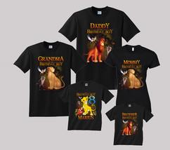 Lion King Birthday Shirt Personalized Custom Shirt Family Black t-shirt - $19.95+