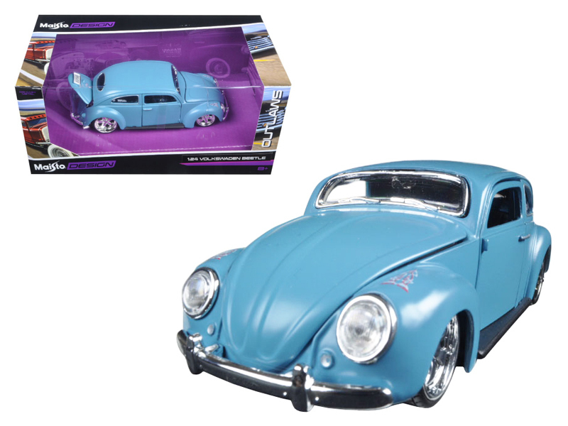 "Volkswagen Beetle Blue ""Outlaws\"" 1/24 Diecast Model Car by Maisto"