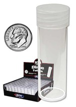 Coin Collecting Supplies For Round Dime Coin storage tubes (Qty=10 Tubes) - $6.95