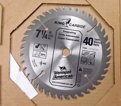 """Vermont American  27250 7-1/4"""" 40T King Carbide Saw Blade - $9.90"""