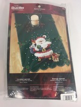 "Bucilla ""Special Delivery"" Santa Table Runner Felt Jeweled Sequin Kit 84874 - $36.62"