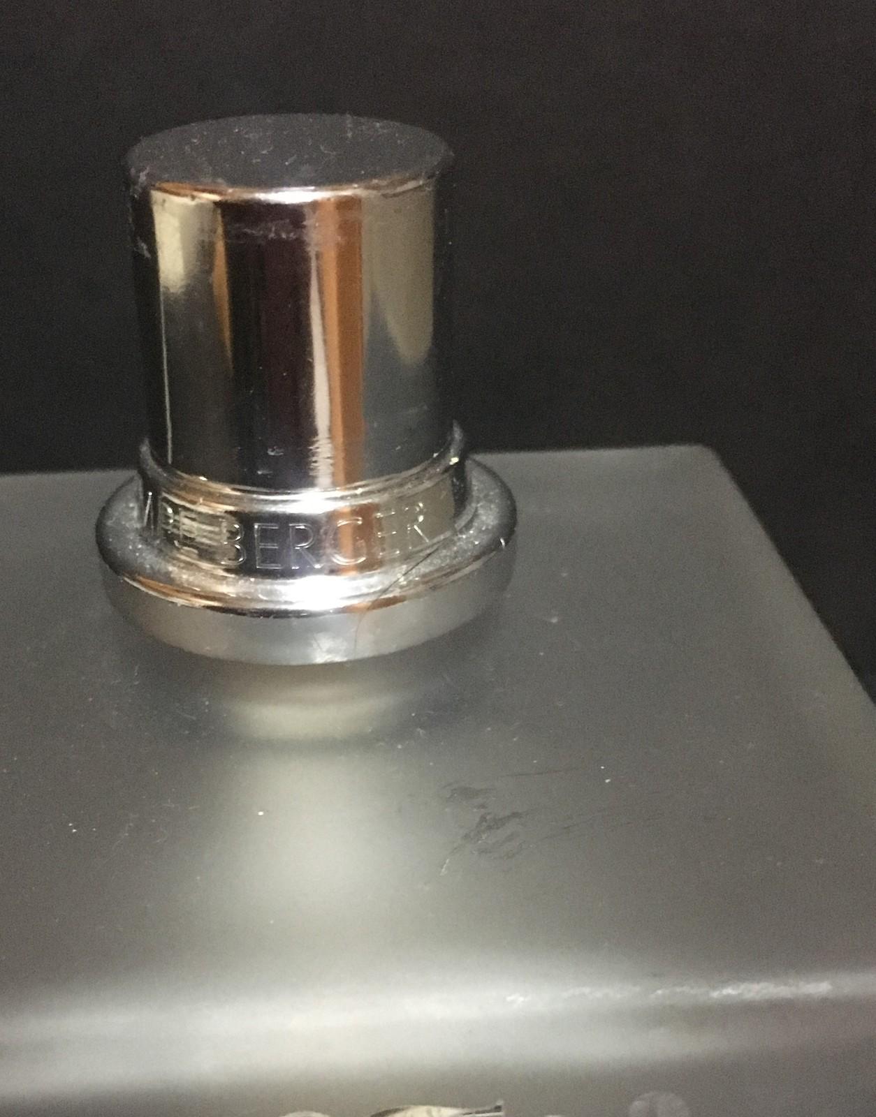 Lampe Berger Catalytic Fragrance Burner Clear Frosted Etched Design Complete