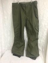 Burton Snowboard Pants Dayride Mens XXL Green Cargo Vented - $56.43