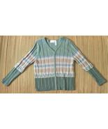 Liz Claiborne Lizsport Womens Cardigan Sweater • Full Zip Chunky Rib • S... - $19.75