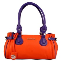 Clemson Tigers The Baywood Ncaa Lincensed Handbag, Wallet & Earrings - $80.75