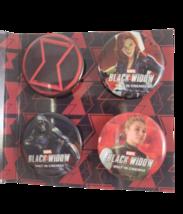 Black Widow Button Pin Set of 4 Marvel Avengers Scarlett Johansson - $11.99