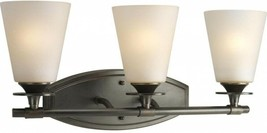 Bathroom Vanity Light Glass Shades 3-Light Modern Seeded Topaz Forged Bronze - $94.50