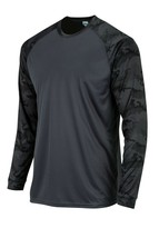 Sun Protection Long Camo Sleeve Dri Fit Graphite Gray sunshirt base layer SPF50+ image 2