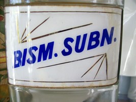 Collectible-Rare-Glass-Label-Apothecary-Bottle-1800-Bismuth Subnitrate-RARE - $249.99