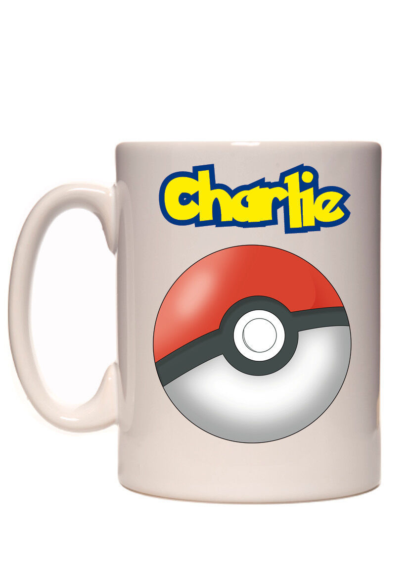 Personalised Pokemon Pokeball Your Name 10oz mug