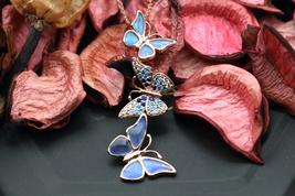Navia Jewelry Butterfly Wings Morpho aega Silver Pendant NP-1125-2-M-MTC-RG - $74.99