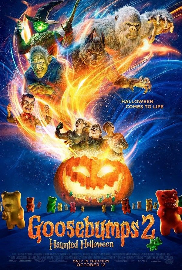 "Primary image for Goosebumps 2 Haunted Halloween Movie Poster Film Print 13x20"" 24x36 27x40"" 32x48"