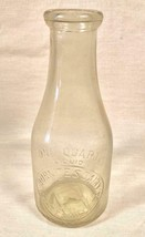VINTAGE 1 QT RAISED LETTER MILK BOTTLE BURNITES DAIRY COATSVILLE, PENNSY... - $20.84