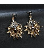 BAHYHAQ - Vintage Crystal Earrings Fashion Party Big Stud Earring - $4.33