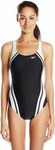 Speedo Womens Swimsuit One Piece Creora Highclo Quantum Splice High Cut ... - $49.50