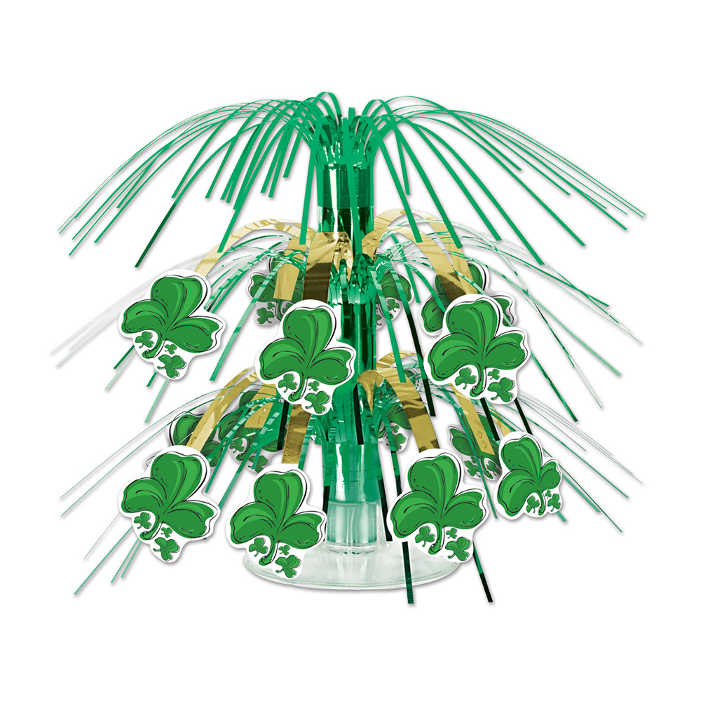 "Beistle Shamrock Mini Cascade Centerpiece 7 1/2""- Pack of 12"