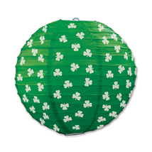 "Beistle Shamrock Paper Lanterns 9 1/2""- Pack of 6 - $51.88"