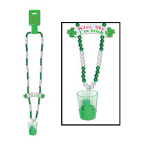 "Beistle Beads w/Shot Glass & Banner Bead 39""- Pack of 12 - $43.45"