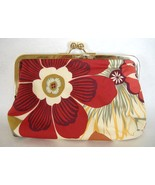 Ava Anemone Floral Print Purse Handcrafted Handbag Fabric Clutch - £54.95 GBP