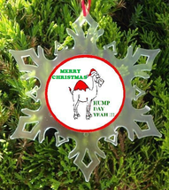 Hump Day Christmas Ornament   X Mas  Camel Ornament   Wednesday Yeah - $12.95