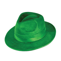 Beistle Green Vel-Felt Fedora.- Pack of 12 - £52.92 GBP