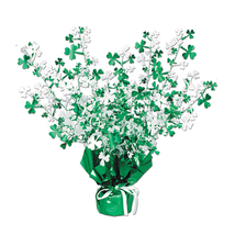 "Beistle Shamrock Gleam 'N Burst Centerpiece 15""- Pack of 12 - $49.23"