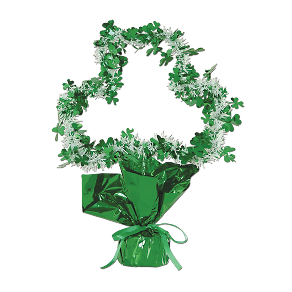 "Beistle Shamrock Gleam 'N Shape Centerpiece 11 1/2""- Pack of 12"