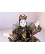 Creepy Porcelain Clown Harlequin Doll Vintage Collectible Doll from Germ... - $29.99