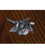 Birds & Blooms Premier Edition Hummingbird Pin Pewter Brooch - $10.00