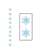 "Beistle Snowflake Stringer 6' 6""- Pack of 12 - $27.00"